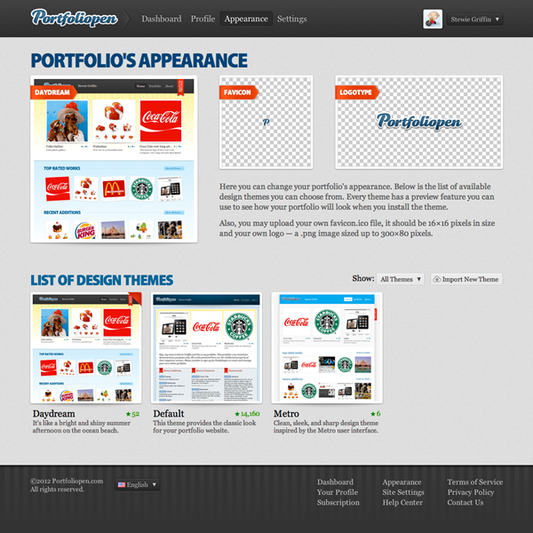 Websites: Portfoliopen